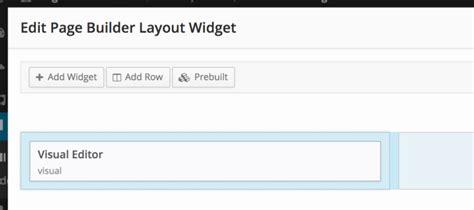 layout builder widget area page builder 2 changes everything siteorigin