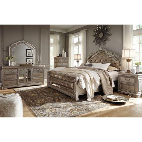 tatiana silver finish bedroom furniture ashley signature design birlanny b720 46 five drawer chest
