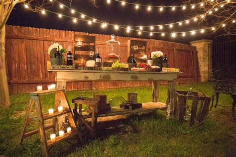 rustic backyard party ideas rustic outdoor birthday party ideas photo 2 of 20