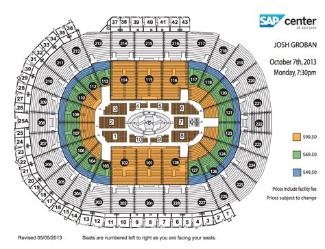 san jose sap map view seating chart