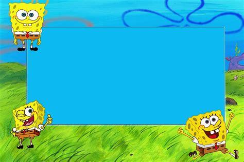 spongebob invitation templates spongebob birthday card gangcraft net
