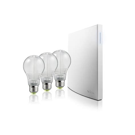 wink hub 2 lights wink hub 2 3 cree bulbs smart home kit pbndl