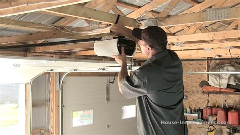 How To Fix Overhead Garage Door How To Install A Garage Door Opener