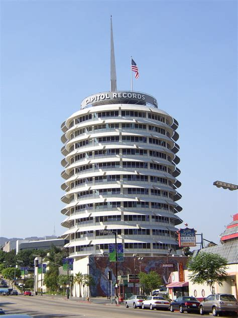 Records Los Angeles Los Angeles Ca Capitol Records Building Photo Picture Image California At City