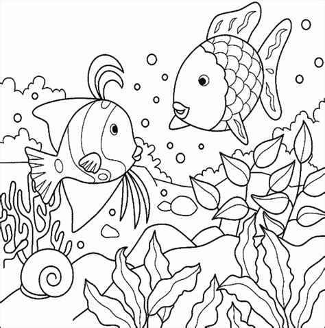 fish tank coloring pages printable kids colouring pages