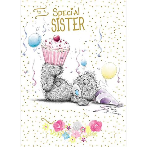 From Me To You Gift Card - sister me to you bear birthday cards ebay