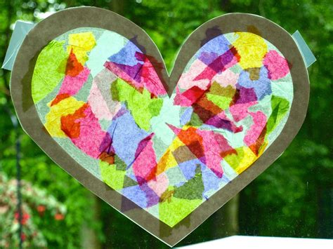 Tissue Paper Suncatcher Craft - glimmer creations tissue paper stained glass craft tutorial