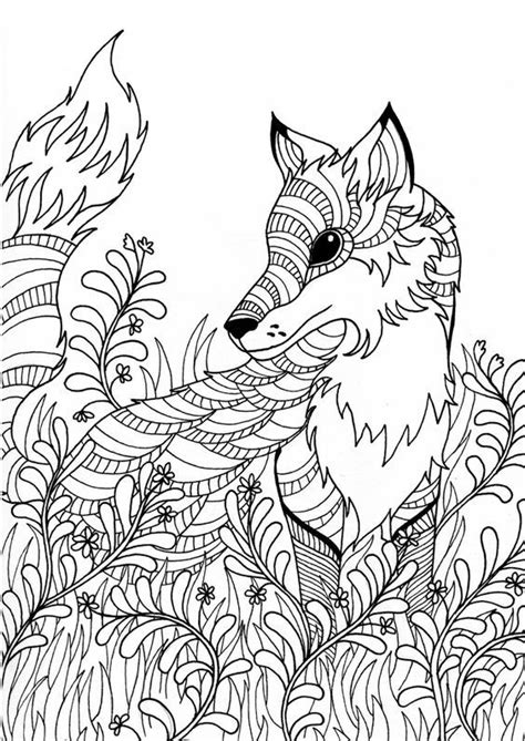 fox coloring page for adults fox adult colouring page colouring in sheets art