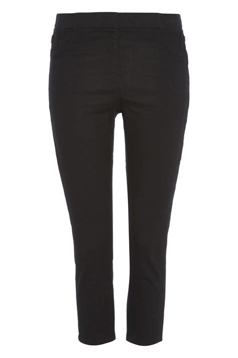 Plain Basic Jegging plain cropped jegging in black romanoriginals co uk