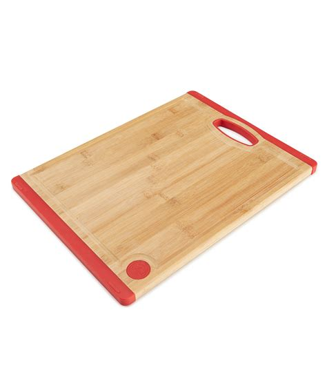 Cutting Board Silicone scarlet 16 quot bamboo with silicone cutting board