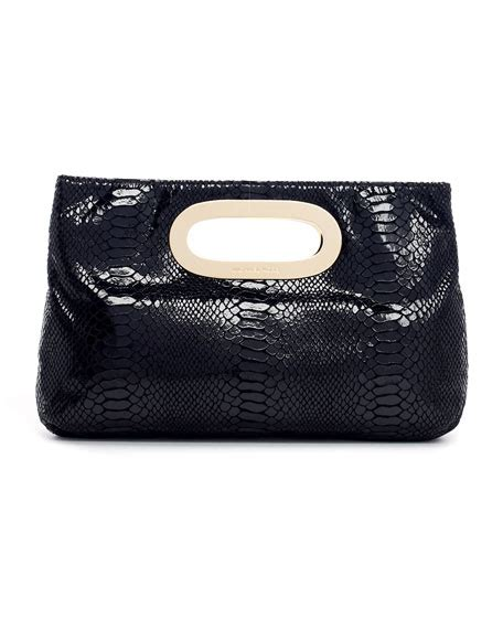 Michael By Michael Kors Ranger Patent Bag by Michael Michael Kors Berkley Patent Python Embossed Clutch Bag