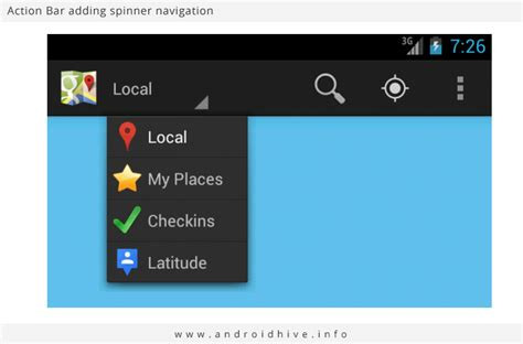 layout in action bar android android working with action bar tutorial