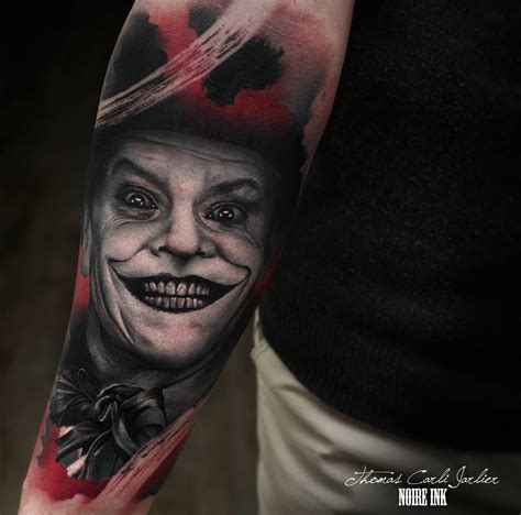 joker tattoo movie jack nicholson playing the joker best tattoo design ideas