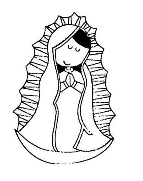 imagenes para dibujar a la virgen de guadalupe dibujos de la virgencita plis para colorear imagui