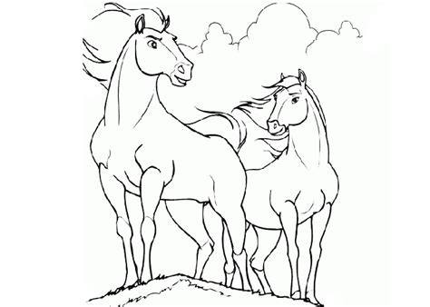 Coloring Pages Of Cartoon Horses | cartoon horse coloring pages cartoon coloring pages