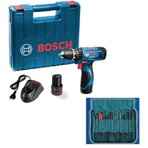 Bosch Gsb 120 Li Cordless Impact Drill Bor Alat Tukang Pertukangan bosch gsb 120 2 li cordless drill driver blue 06019f30k4 in industrial scientific