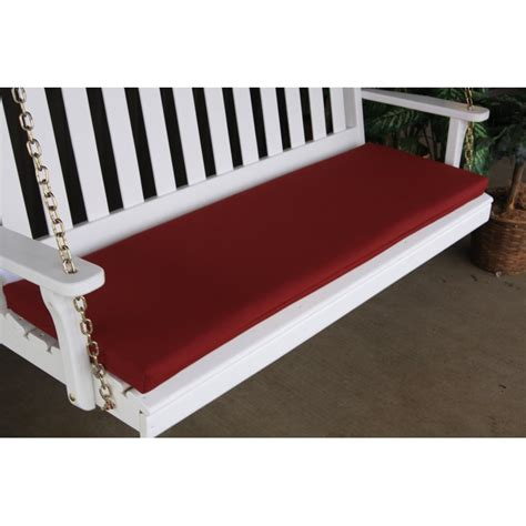 6 foot outdoor bench cushions 6 foot swing bench glider cushion