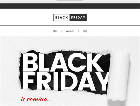 The Best Black Friday Email Template To Increase Black Friday 2016 Sales Black Friday Email Template