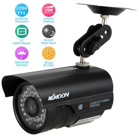 cctv outdoor kkmoon cctv 1200tvl outdoor waterproof vision