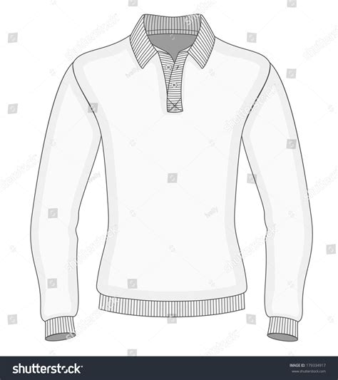 Mens Long Sleeve Polo Shirt Design Stock Vector 179334917 Shutterstock Sleeve Shirt Design Template