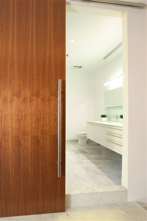 Modern Bathroom Door by Modern Barn Doors