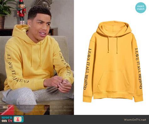 marcus scribner on wendy williams wornontv junior s yellow leave it all behind hoodie on