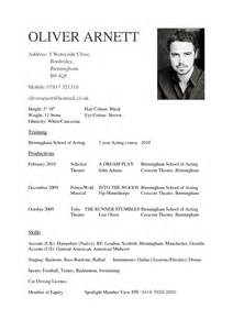 resume examples for actors uxhandy com