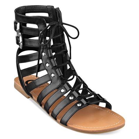 guess gladiator sandals lyst g by guess womens gladiator sandals in black