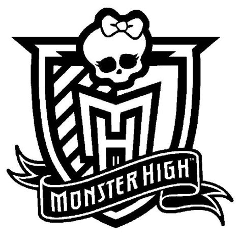 Monster High Symbol Coloring Pages | kids n fun com coloring page monster high monster high logo