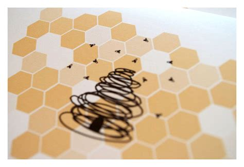pattern matching in hive designer honey bee stationery note card set sparetire design