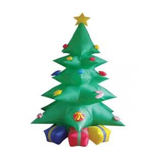 8 foot green inflatable christmas tree w multicolor gift