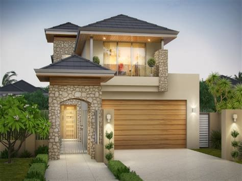 narrow frontage house designs modern narrow lot house plans with front garage home desain 2018