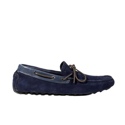 pirelli shoes mandel loafer bow detail suede leather in