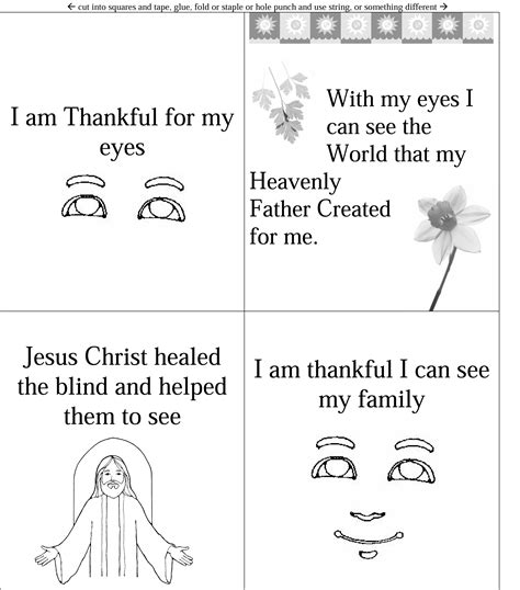 thankful for ears coloring page lesson 19 i am thankful for my eyes lds lesson ideas