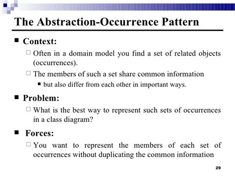 pattern abstraction occurrence 4a domain model