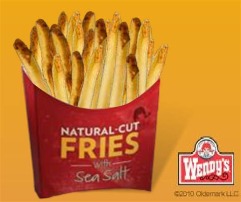 FREE Wendy's Natural Cut Fries with Sea Salt