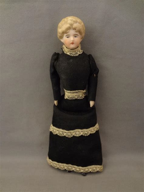 6 bisque doll 6 quot all bisque doll house doll with updo hair from