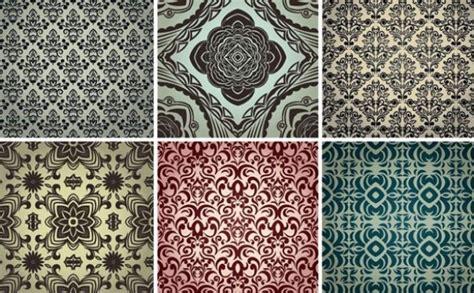 pattern recognition ncsu 6 vintage damask seamless vector patterns welovesolo