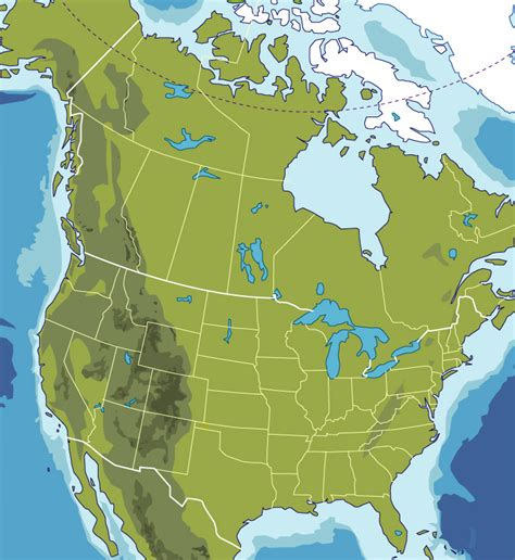 america physical features map blank map of america physical features
