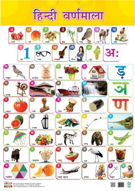Front  Back Educational Charts Hindi Varnamala & Matras