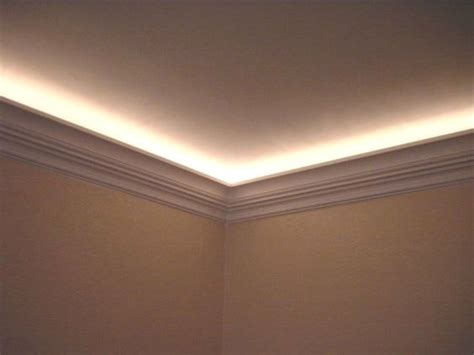 Ceiling Light Crown Molding Ceiling Light Crown Molding And Omg I Need To Do This Use Rope Lights With Lighting