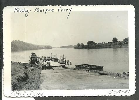 ebay boats ohio 4 vintage photos 1951 parkersburg wv belpre ohio ferry
