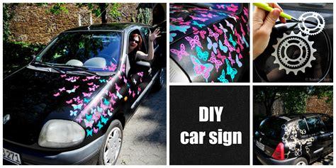 Make Your Own Custom Car - diy make your own custom car signs selbermachenguru