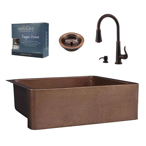 valence rustic kitchen faucet in copper brass farmhouse sinkology pfister all in one courbet copper farmhouse