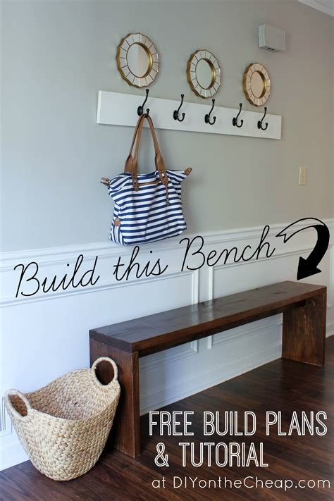 entryway bench plans tutorial erin spain