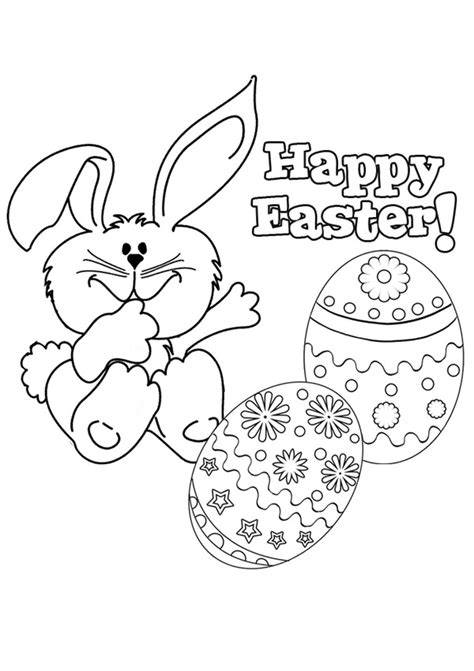 free online happy easter 2 colouring page kids activity