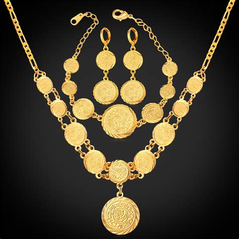 aliexpress buy gold coin set earring necklace