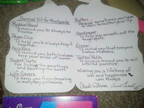 Best wedding gift ever : ) Survival kit for newlyweds