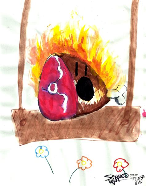 paint me a burning ham by sinnedwolf on deviantart