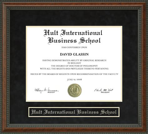 Mba Diploma Frame by Hult International Business School Diploma Frame Wordyisms
